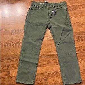 NWT Gap Slim 1969 36x30 Green Garment Dyed